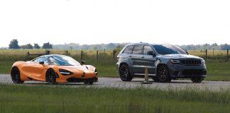 mclaren supercar 720s vs hennessey trackhawck