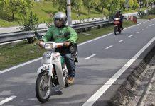 μαλαισία λωρίδες μοτοσυκλέτες