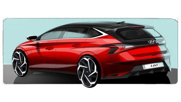 Νέο Hyundai i20 επίσημα σκίτσα