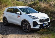 Kia Sportage Hybrid test Traction