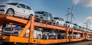 Volvo Cars τρένα αντί φορτηγών