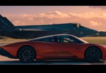McLaren Speedtail vs F-35 video