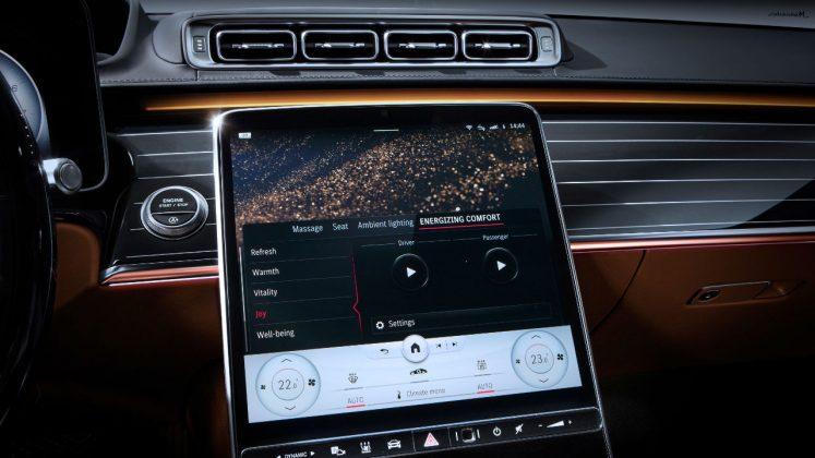 2020 Mercedes S-Class καμπίνα εσωτερικό