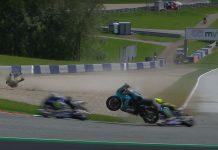 MotoGP Valentino Rossi, Maverick Vinales ατύχημα