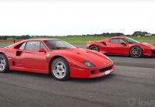 Ferrari F40 vs FerraRI 488 PISTA VIDEO