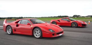 Ferrari F40 vs FerraRI 488 PISTA VIDEO