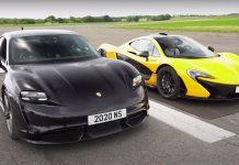 Porsche Taycan vs McLaren P1