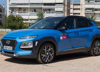 Hyundai Kona Hybrid 2020 traction δοκιμή