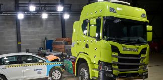 Scania crash tests ηλεκτρικό φορτηγό video