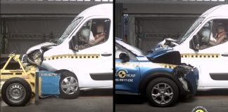 Euro NCAP van vs car crash test