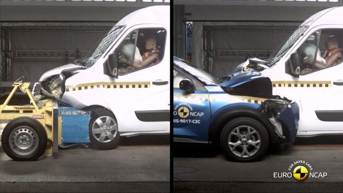 Euro NCAP van vs car crash test