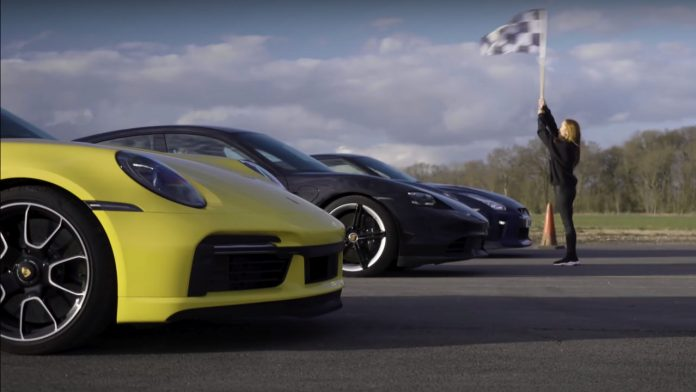 Porshe drag race vs nissan gt-r