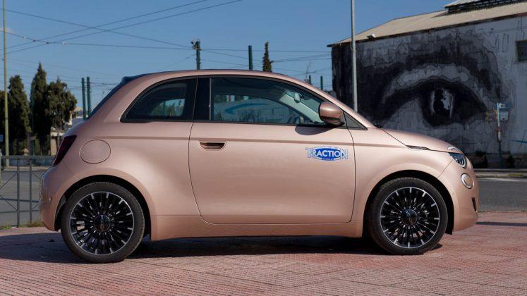 Ηλεκτρικό Fiat 500 Cabrio δοκιμή traction 2021