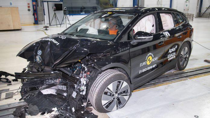 Skoda Enyaq iV crash test Euro NCAP