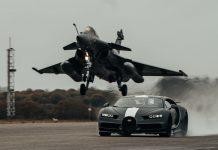 Bugatti Chironvs. Rafale, video 2021