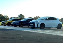 Video κόντρα Gr Yaris vs GR Supra vs Civic Type R