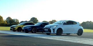 Video κόντρα Gr Yaris vs GR Supra vs Civic Type R
